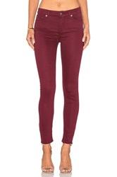 7 For All Mankind The Ankle Skinny Cranberry