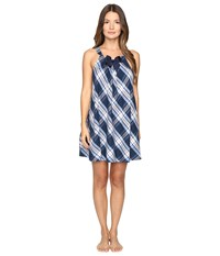 Kate Spade Flannel Chemise Winterly Plaid Navy