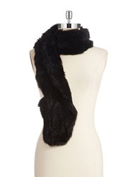 Surell Rabbit Fur Scarf Black