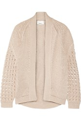 3.1 Phillip Lim Pointelle Knit Cotton Cardigan Nude