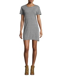 Current Elliott Short Sleeve Knit T Shirt Dress Gray