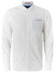 Scotch And Soda Long Sleeve Fixed Pochet Shirt White