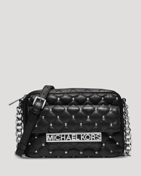 Michael Michael Kors Crossbody Kim Studded Large Messenger Black