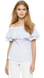 Designers Remix Lina Off Shoulder Top White