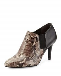 Cole Haan Maxfield Natural Snake Print Leather Bootie Black Snake Print