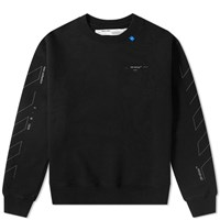 Off White Diagonal Backbone 3M Oversized Arrows Crew Sweat Black