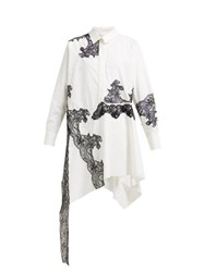 Marques Almeida Marques'almeida Lace Insert Cotton Shirtdress White