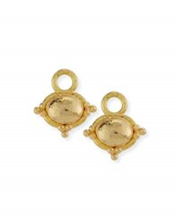 Elizabeth Locke Horizontal 19K Dome Earring Pendants