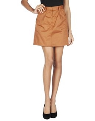 Camo Mini Skirts Brown