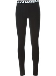 Dsquared2 Logo Leggings Black