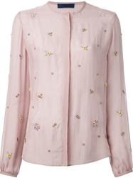 Sharon Wauchob Embellished Floral Blouse Pink And Purple
