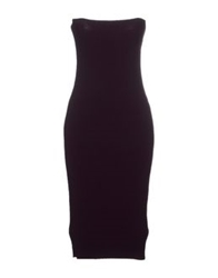 Love Sex Money Knee Length Dresses Deep Purple