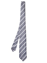 Dunhill Double Striped Silk Tie Blue Multi