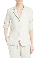 Vince Women's Linen And Silk Three Button Blazer