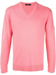 Loveless Long Sleeve Fitted Sweater Pink