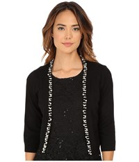 Rsvp Bre Shrug With Pearls Black Women's Sweater