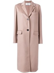 Valentino Single Breasted Coat Nude Neutrals
