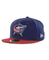 New Era Columbus Blue Jackets Basic 59Fifty Cap Navy Red
