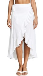 9Seed Solana Wrap Skirt White