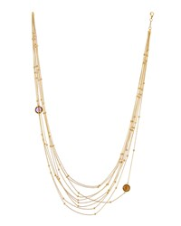Roberto Coin 18K Yellow Gold Multi Strand Amethyst And Citrine Necklace Women's