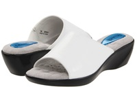 Fitzwell Astrology White Leather Women's Slide Shoes