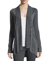 Marc Ny Performance Slub Jersey Open Front Cardigan Smoke