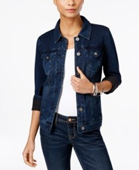 Styleandco. Style And Co. Dark Wash Denim Jacket Only At Macy's Punk