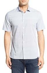 Men's Toscano Regular Fit Short Sleeve Print Sport Shirt
