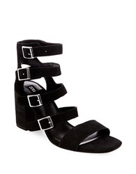 Design Lab Lord And Taylor Strappy High Heel Suede Sandals Black