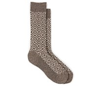 Barneys New York Diamond Knit Mid Calf Socks Light Gray