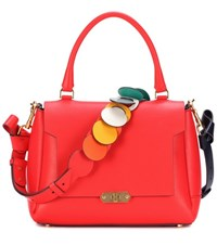 Anya Hindmarch Circle Small Bathurst Leather Shoulder Bag Red