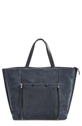 Allsaints 'Fleur De Lis' Tote Blue Deep Midnight Blue