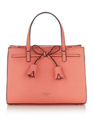 Guess Leila Small Girlfriend Satchel Bag Pink