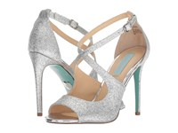 Blue By Betsey Johnson Tracie Silver Glitter High Heels