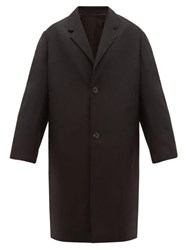 Christophe Lemaire Single Breasted Wool Twill Chesterfield Coat Black