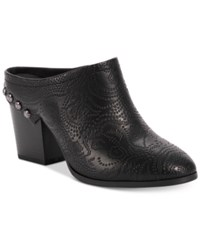 Easy Street Shoes Shiloh Mules Black Embossed