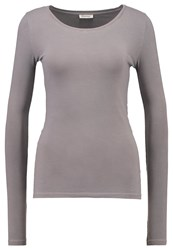 American Vintage Long Sleeved Top Cendre Ash Grey