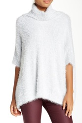 Cullen Foxy Turtleneck Blanket Sweater