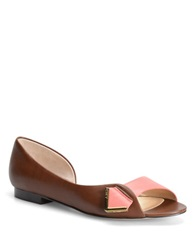 Carmen Marc Valvo Marta Leather Flats Coral