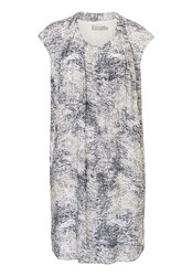 Betty And Co. Printed Shift Dress Grey