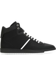 Christian Dior Dior Homme Contrasting Stripe Hi Top Sneakers Black