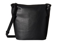 Ecco Sculptured Small Bucket Black Shoulder Handbags