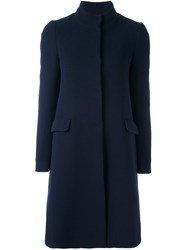 Blugirl Fitted Single Breasted Coat Blue