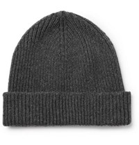 858d7e00bdb Paul Smith Ribbed Cashmere And Wool Blend Beanie Gray
