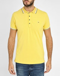 Diesel Yellow T Oin Trim Short Sleeve Slim Fit Polo Shirt