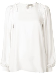 N 21 No21 Ruffle Trim Blouse White