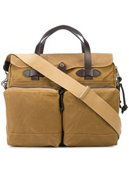 Filson 24 Hour Tin Cloth Briefcase Brown