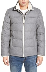 Men's Black Rivet Dual Layer Quilted Jacket