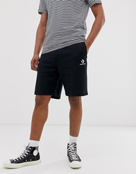 Converse Small Logo Jersey Shorts In Black