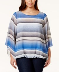 Alfani Plus Size Bell Sleeve Bubble Hem Top Only At Macy's